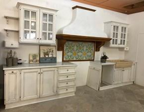 Cucina Artigianale provenzale lineare bianca in legno Ginestra