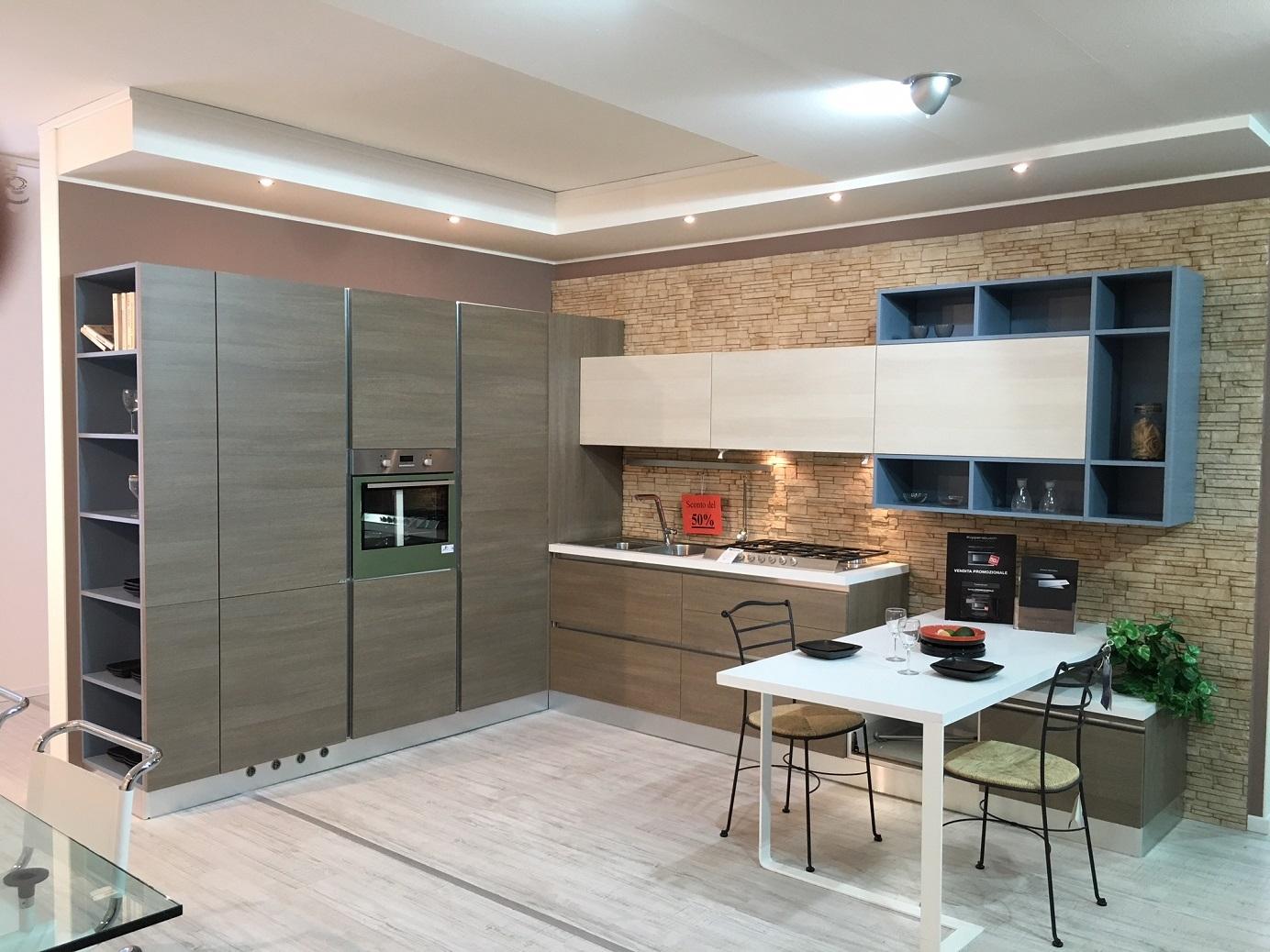 Cucina artre angolare in melaminico effetto legno cucine - Cucina nera legno ...