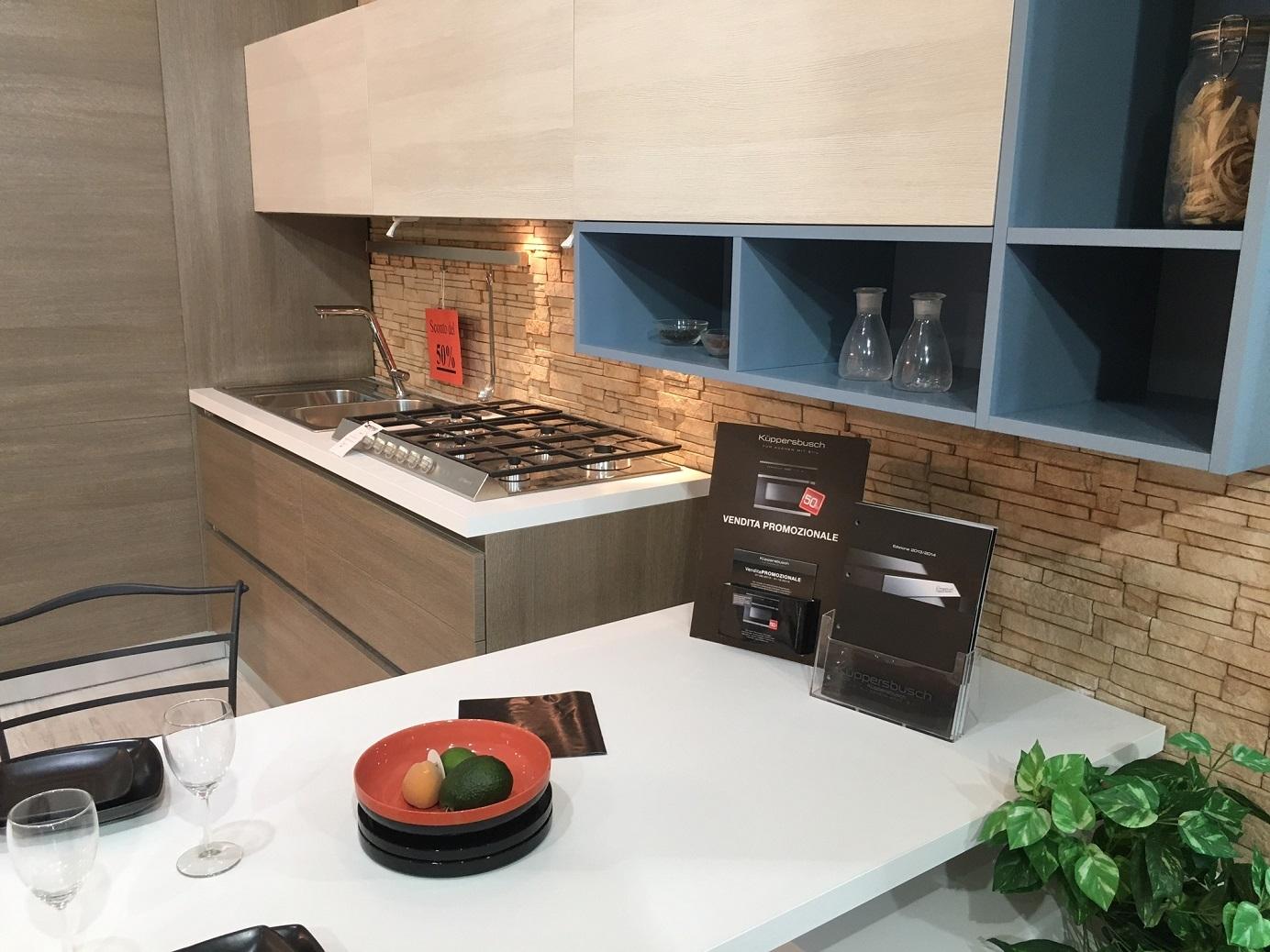 Cucina artre angolare in melaminico effetto legno cucine a prezzi scontati - Ripiani interni cucina ...