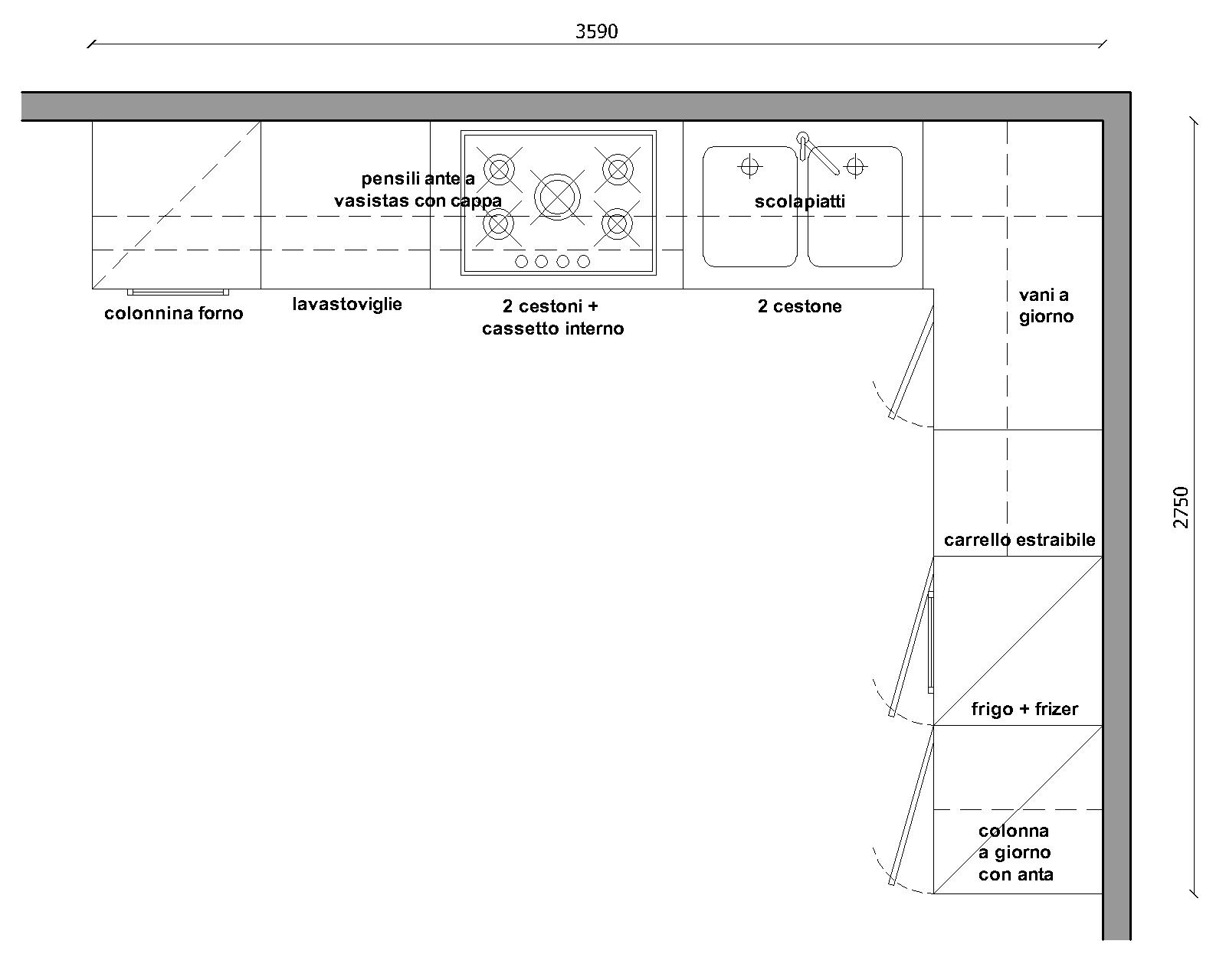 Blocchi Cad Cucina – Idea d\'immagine di decorazione