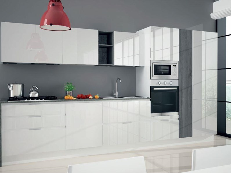 Stunning cucine bianche laccate photos - Cucine nere lucide ...