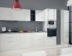 Cucina Astra Cucine Combi laccata  Moderna Laccato Lucido bianche