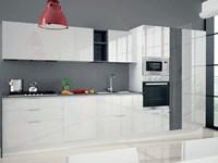 Cucina astra cucine combi laccata moderna laccato lucido bianche - Cucine laccate bianche ...