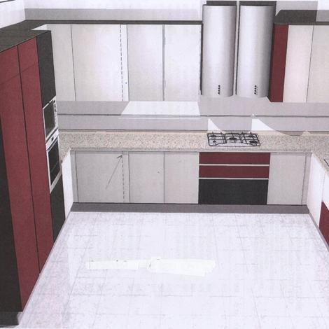 Cucina astra cucine cristal 2 moderno vetro bianca   cucine a ...