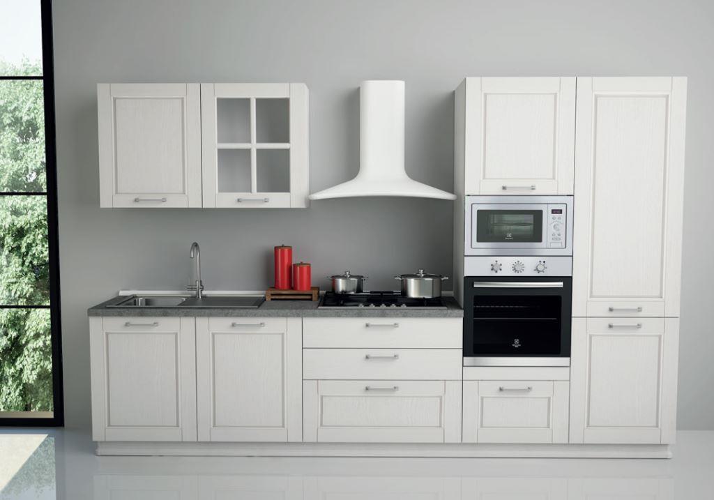 Cucina astra cucine epoca classica legno bianche cucine - Cucine bianche e legno ...