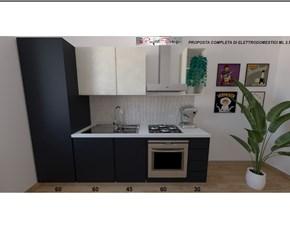 Cucina Astra cucine moderna lineare antracite in laminato opaco Sp22