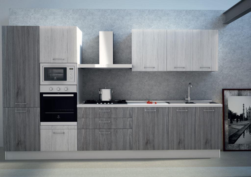 Cucina Astra Cucine Sp 22 Moderna Laminato Opaco bianche - Cucine a ...