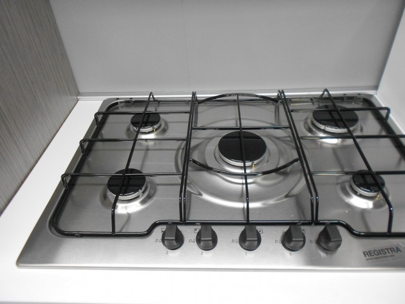 cucina modello iride piano cottura 5 gas inox della rex
