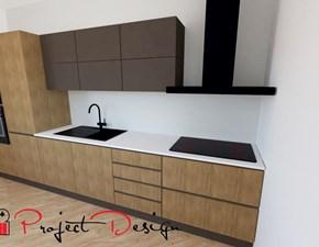 Cucina Astra moderna lineare bianca in legno Line
