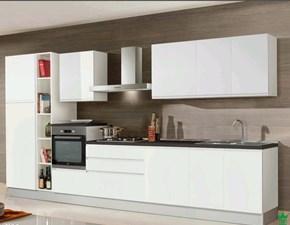 Cucina Axos moderna bianca lineare Artigianale