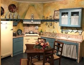 Cucina azzurra country ad angolo Doria Marchi cucine in Offerta Outlet
