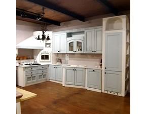 Cucina azzurra in muratura ad angolo Cucina isotta Vismap scontata