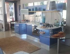 Cucina azzurra moderna con penisola Skyline Snaidero in Offerta Outlet