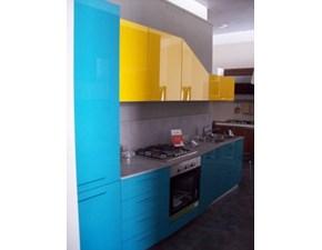 Cucina azzurra moderna lineare Alicante Febal in Offerta Outlet