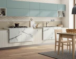 Cucina azzurra moderna lineare Componibile Colombini