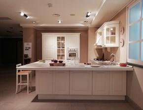 Cucina Berloni cucine classica con penisola bianca in legno Athena
