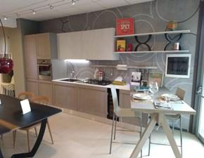 Cucina Berloni cucine design con penisola tortora in legno Milano