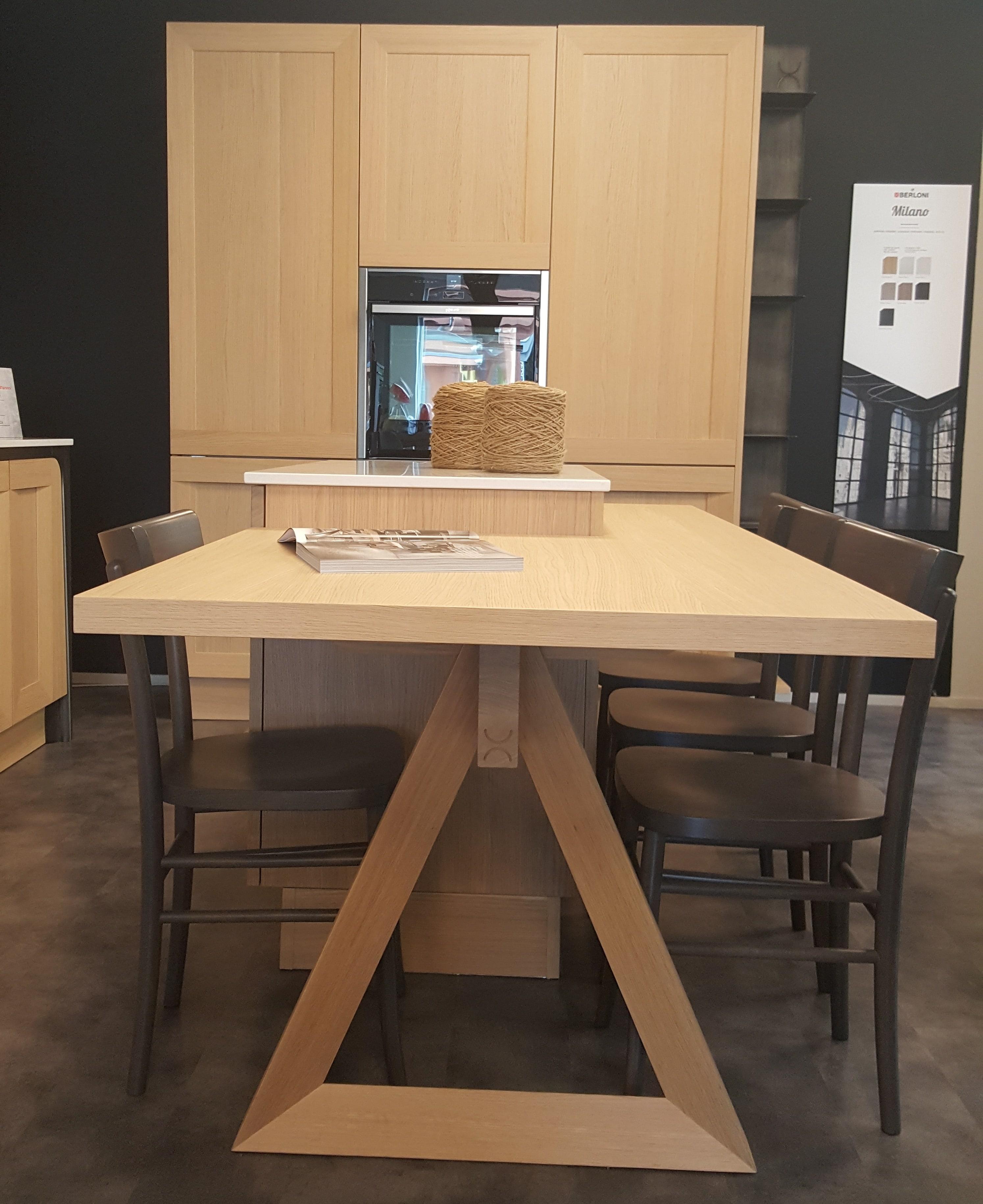 Cucina berloni modello milano spiga composizione con isola cucine a prezzi scontati - Cucina molecolare milano ...