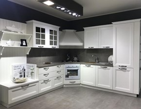 Cucina Beverly classica bianca ad angolo Stosa cucine