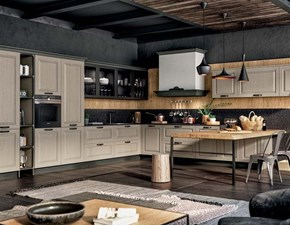 Cucina bianca classica ad angolo Asolo Mottes selection in Offerta Outlet