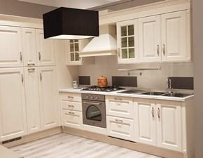 Cucina bianca classica ad angolo Baltimora Scavolini in Offerta Outlet
