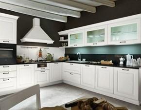 Cucina bianca classica ad angolo Flaminia Aran in Offerta Outlet