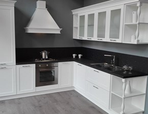 Cucina bianca classica ad angolo Montecarlo Gicinque cucine in offerta