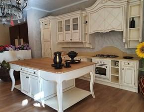 Cucina bianca classica ad isola A.279 beatrice rovere cv Prezioso