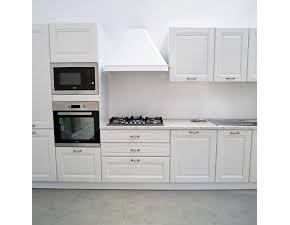 Cucina bianca classica lineare Lucrezia  Artigianale in Offerta Outlet