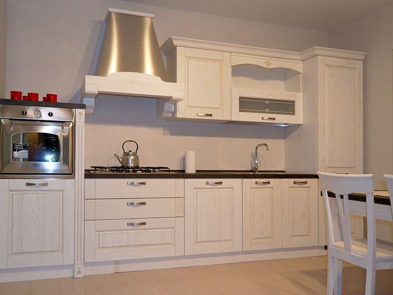 cucina bianca classica lineare mod verona arredo3 in