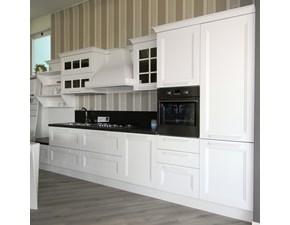 Cucina bianca classica lineare Ylenia laccato Aran cucine