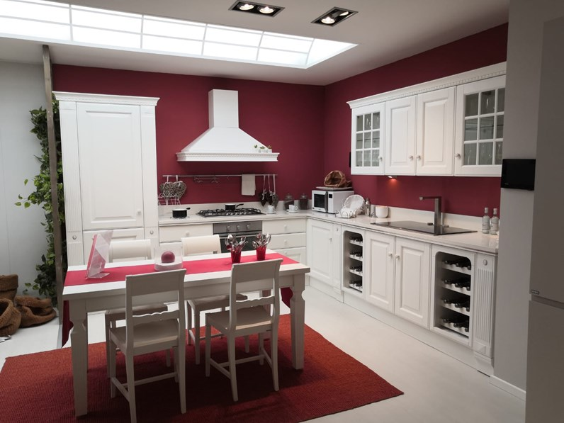 Cucina bianca country ad angolo Baltimora Scavolini