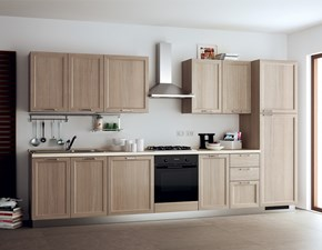 Cucina bianca country lineare Highland Scavolini in Offerta Outlet