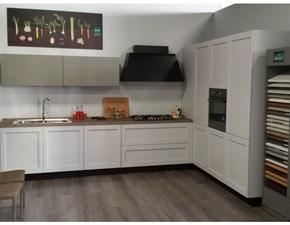 Cucina bianca design ad angolo Frida modern Arredo3 in Offerta Outlet