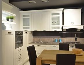 Cucina bianca design ad angolo Gioia bianca Artigianale in Offerta Outlet