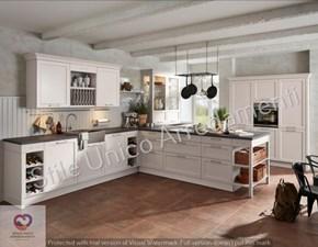 Cucina bianca design ad angolo Molly Artigianale in Offerta Outlet