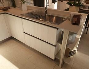 Cucina bianca design ad angolo Rewind Creo kitchens scontata