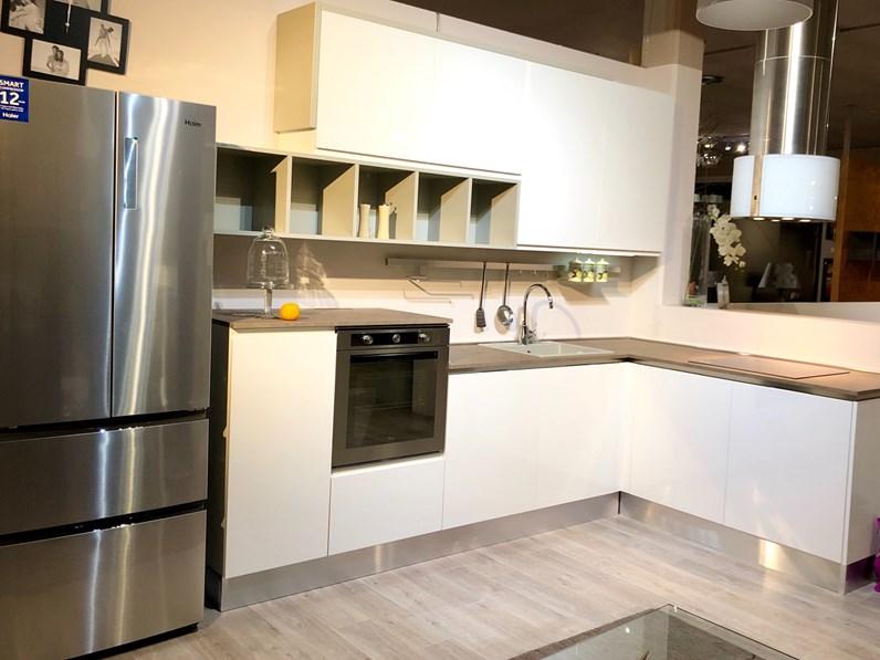 cucina bianca design ad angolo time wega whirlpool