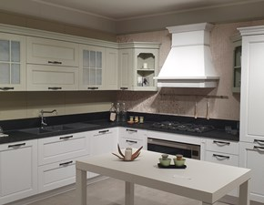 Cucina bianca design ad angolo Virgnia Stosa cucine scontata