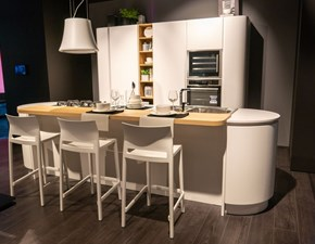 Cucina bianca design ad isola Clover Lube cucine in Offerta Outlet