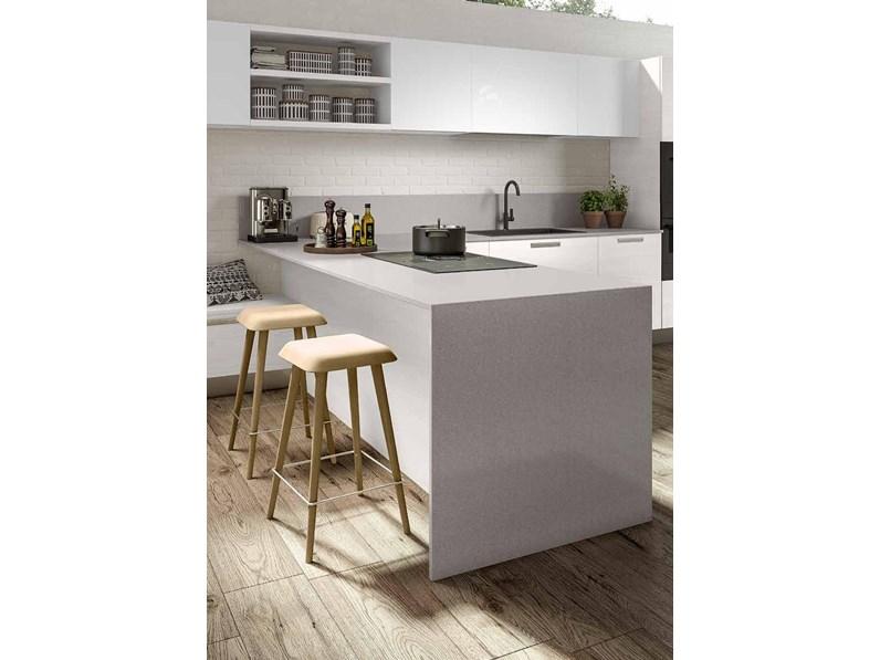 Cucina bianca design ad isola corolla 2 essebi cucine in for Cucine di design outlet