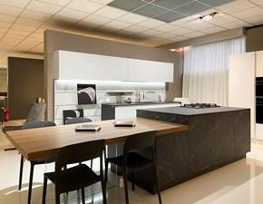 Cucina bianca design ad isola Glass e noir desire Artigianale