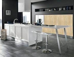 Cucina bianca design ad isola Isola tally  di Nuovi mondi cucine in legno