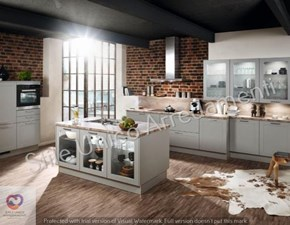 Cucina bianca design ad isola Muffin Colombini casa in Offerta Outlet