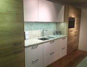 Cucina bianca design ad isola Nova Artigianale in Offerta Outlet