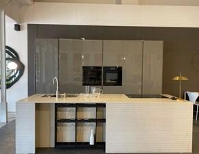 Cucina bianca design ad isola Twenty Modulnova in Offerta Outlet