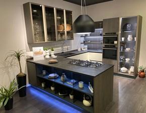 Cucina bianca design con penisola Clover Lube cucine