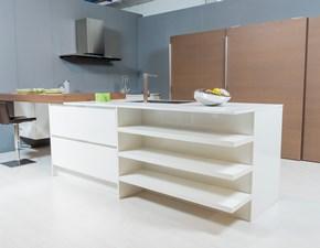 Cucina bianca design con penisola Domus09 Artigianale in offerta