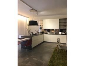 Cucina bianca design con penisola El_01 Elmar cucine in Offerta Outlet