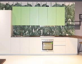 Cucina bianca design con penisola Groove Berloni cucine